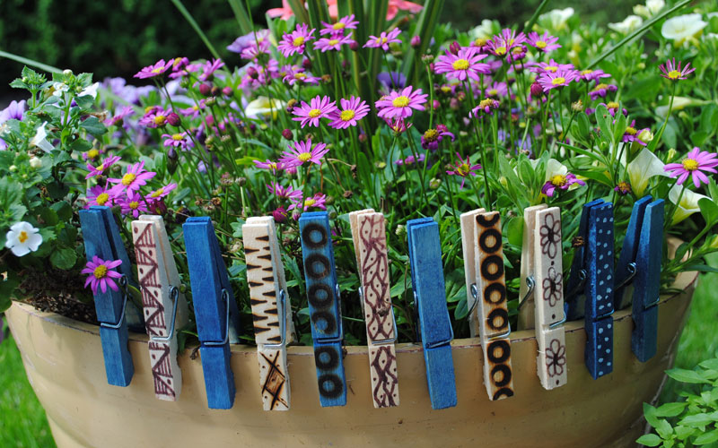 decorated clothes pegs