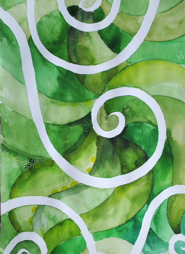 spiral watercolor