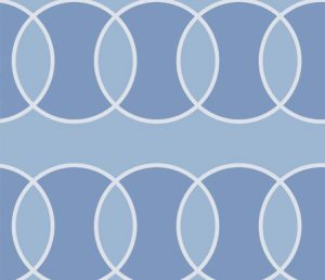blue bubble modern abstract fabric