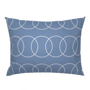 blue circle pillow sham