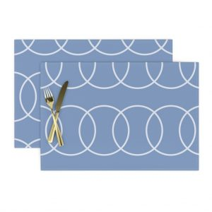 blue circle placemats