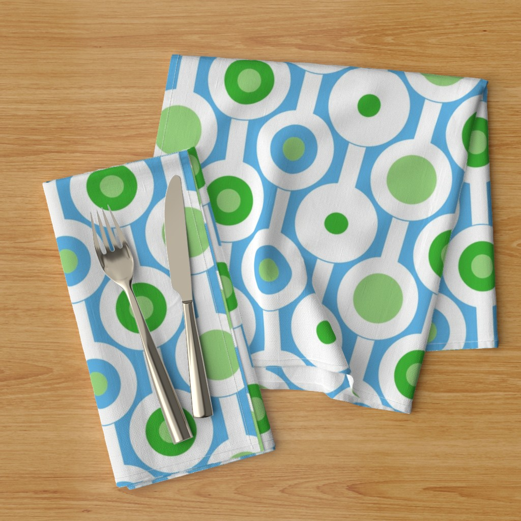 Green circle napkins