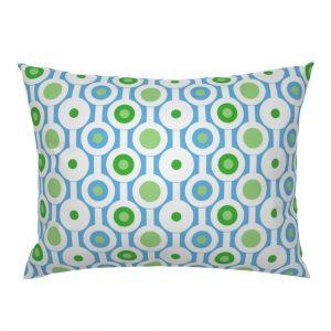 circle green pillow sham