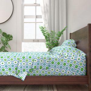 circle green sheet set