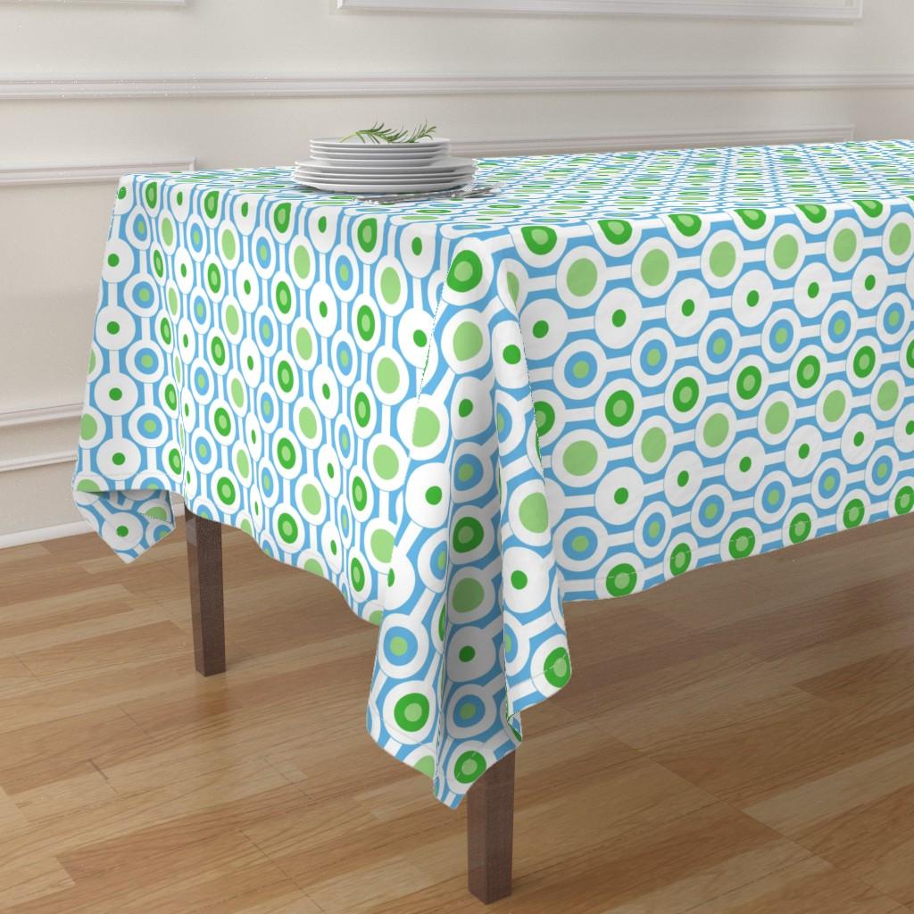 green circle table cloth