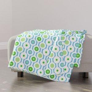 circle green throw blanket