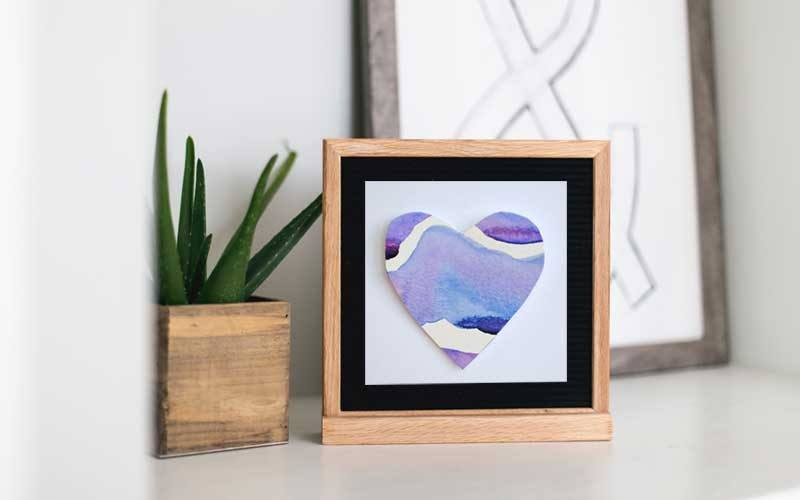 framed valentine heart