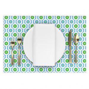 green circle placemat