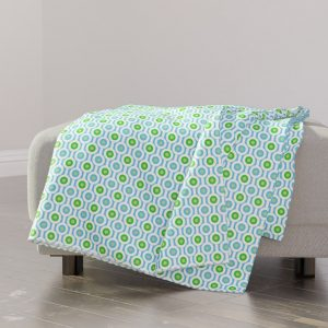 green circle throw blanket