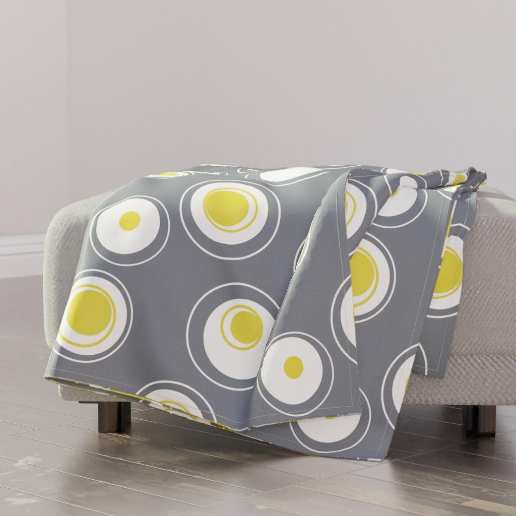 hard boiled egg throw blanket
