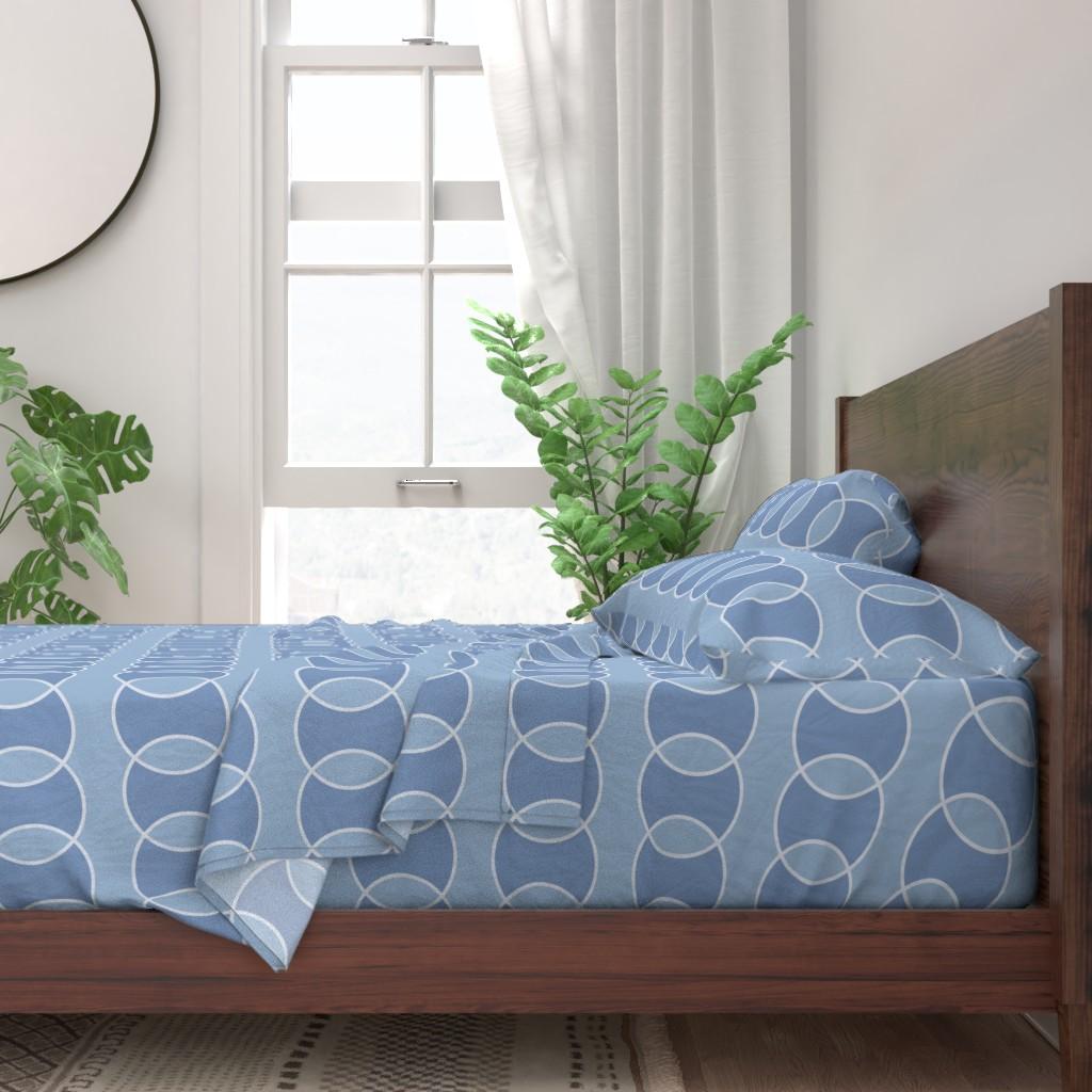 contemporary blue sheet set