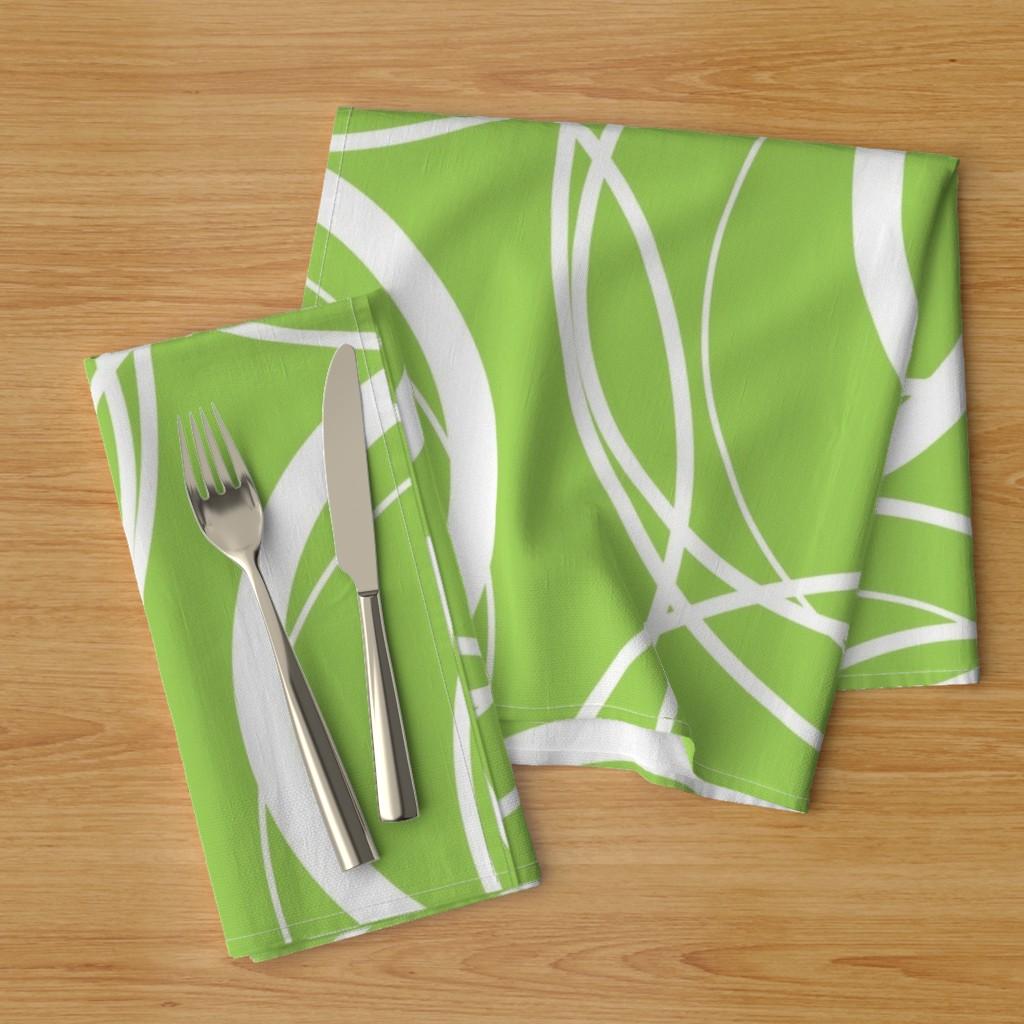 swirly green napkins