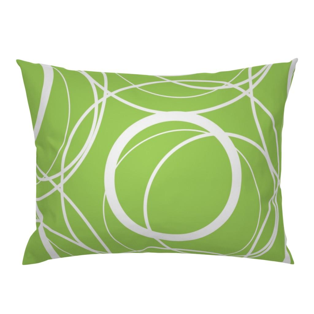 swirly green pillow sham