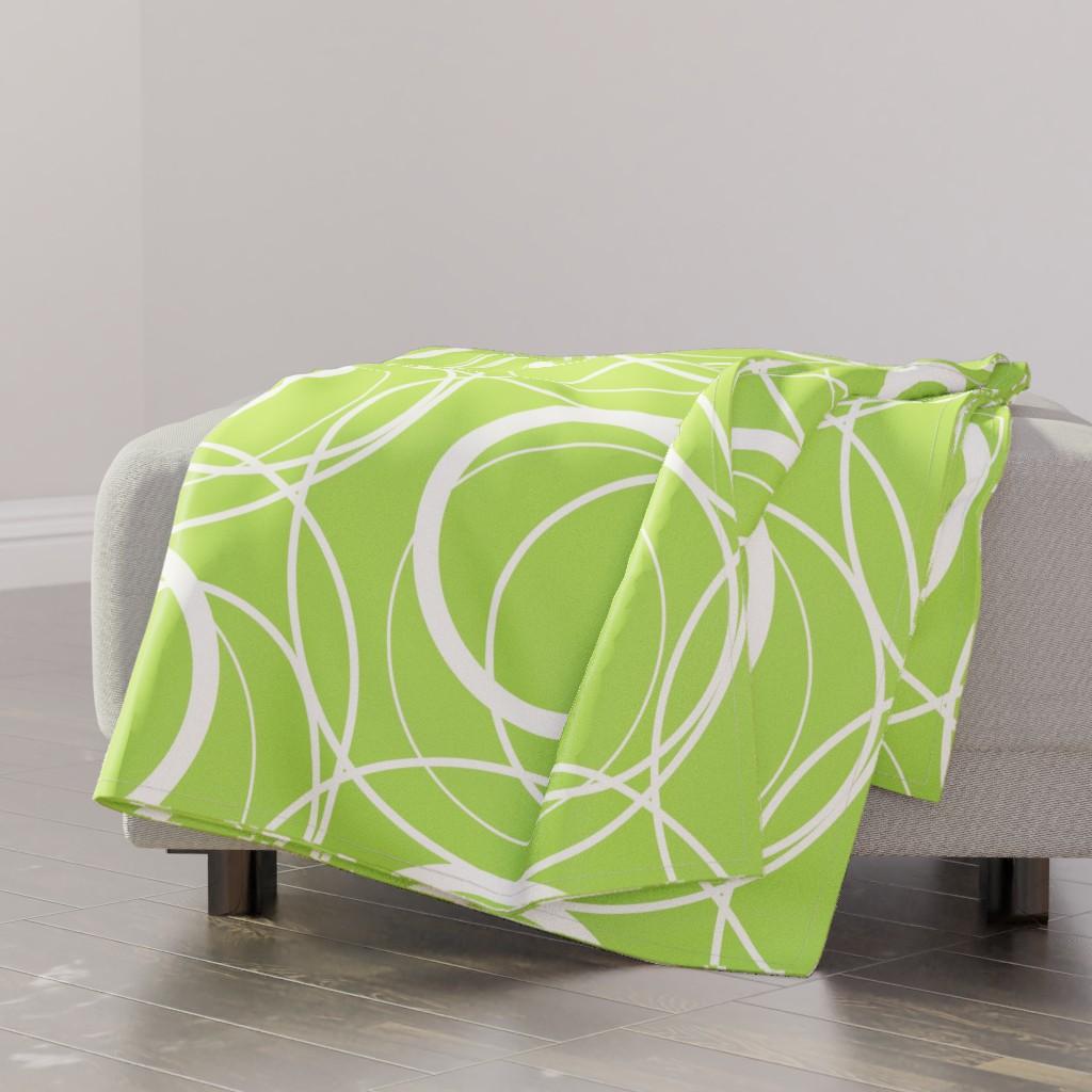 swirly green throw blanket