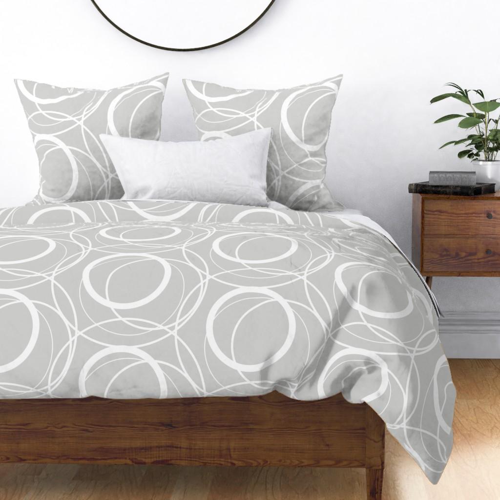 swirly grey duvet cover