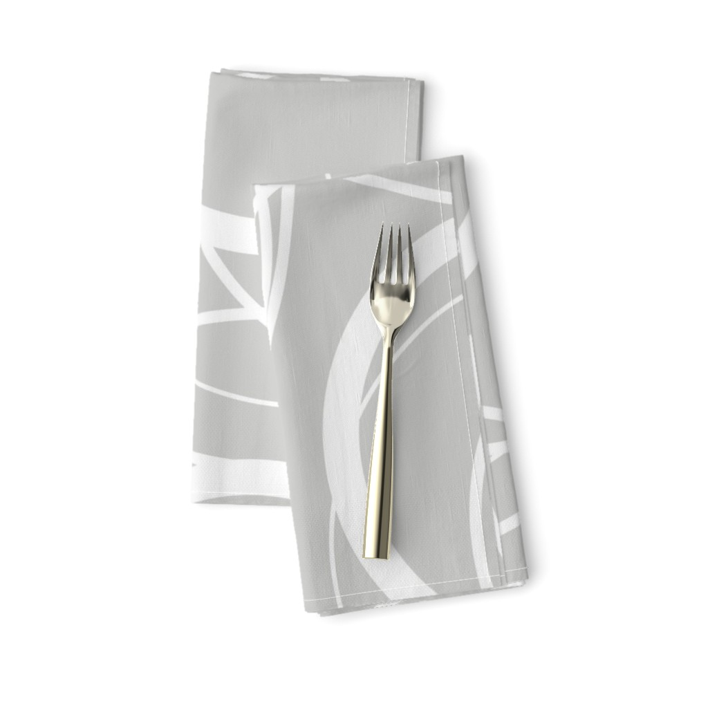swirly grey napkins