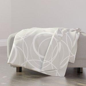 swirly grey throw blanket