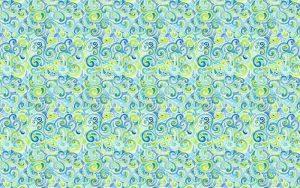 swirly spiral watercolor pattern