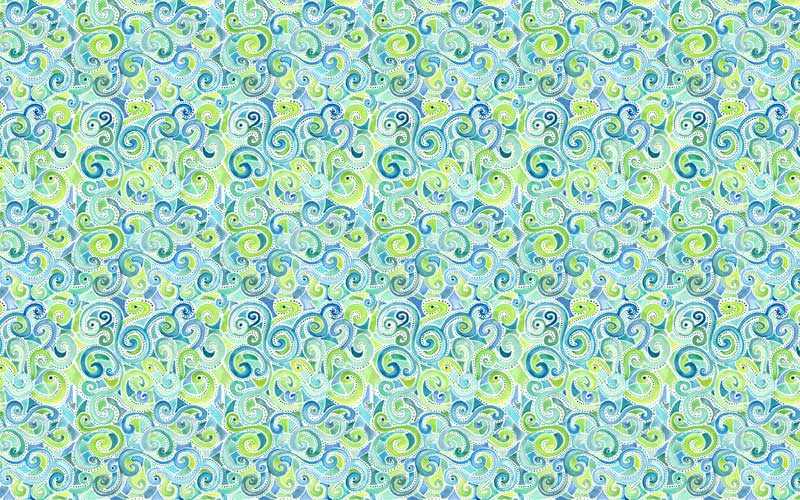swirly spiral watercolor pattern
