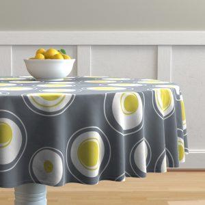 Round table cloth contemporary circles