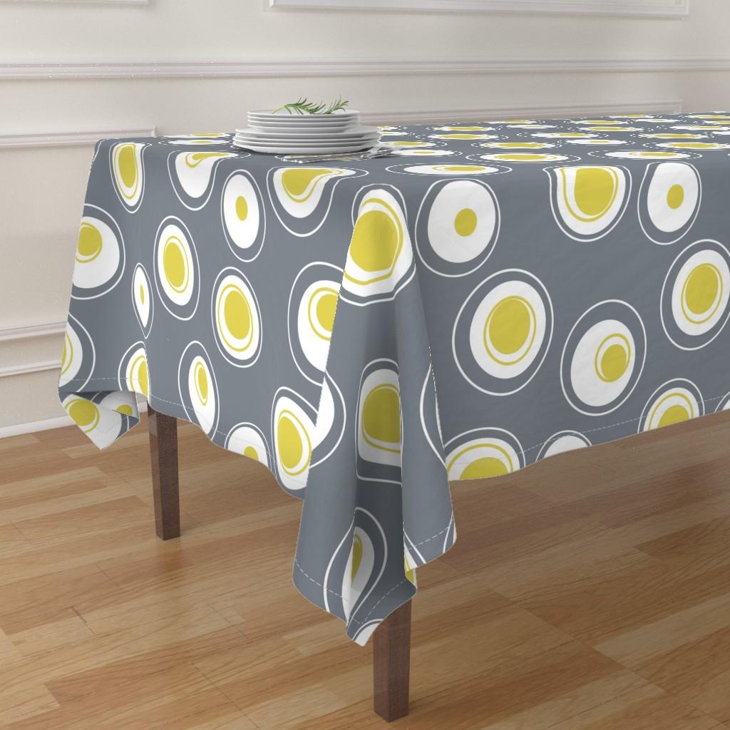 table cloth contemporary circles