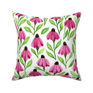 cone flowers throw pillow