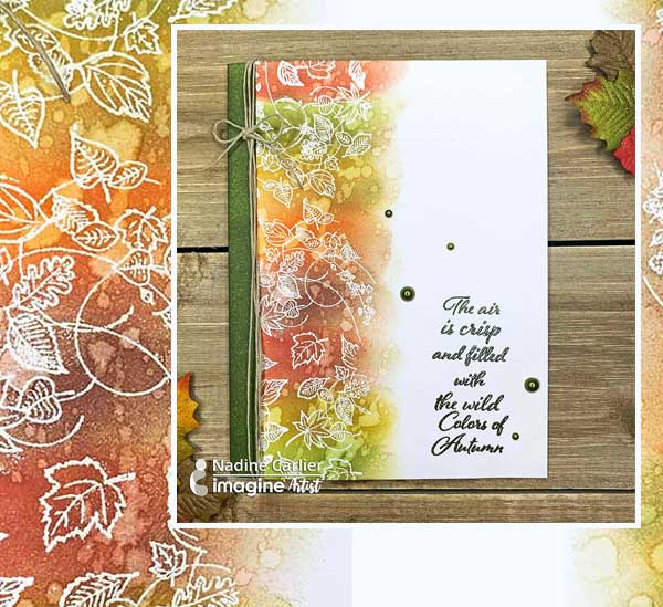 autumn card craft project