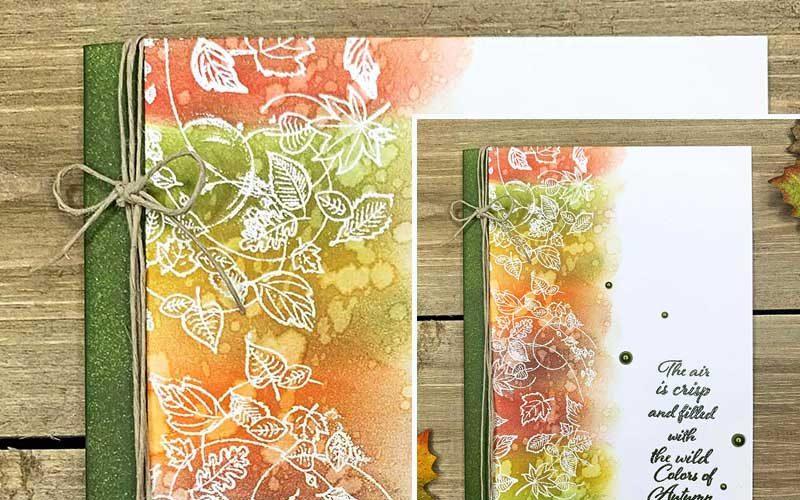autumn card craft project