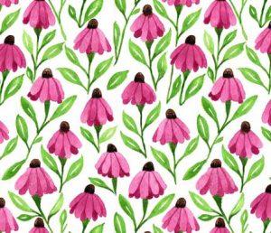 cone flower fabric