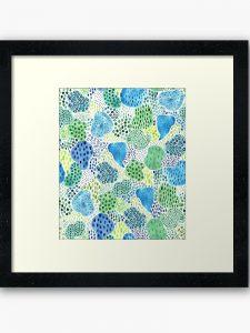 drops watercolor framed art