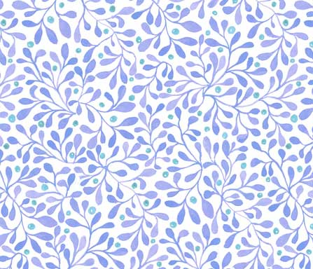 fall berries blue fabric design
