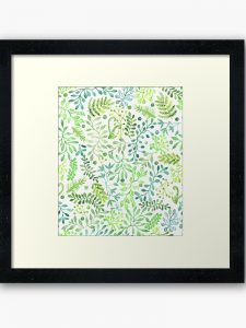foliage framed art