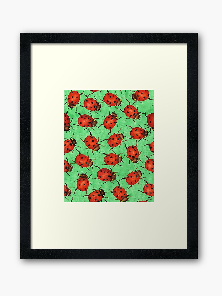 framed ladybug-art