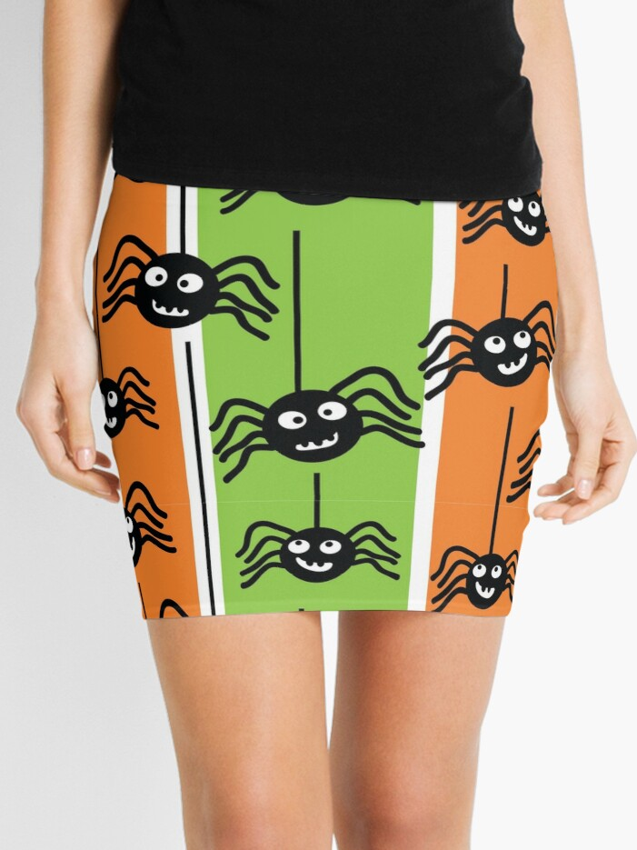 halloween pencil skirt with spiders