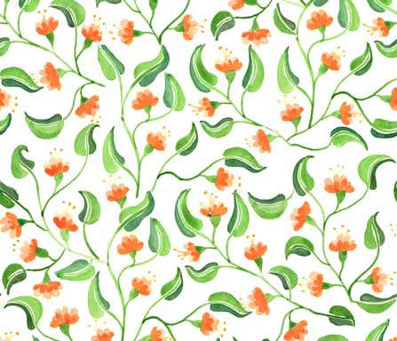 jewel weed fabric design