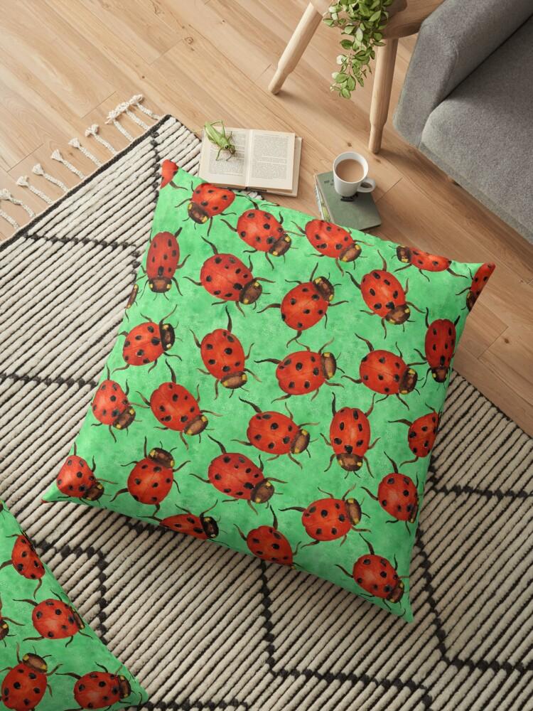labybug throw pillow