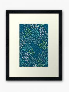 leaf tangle framed art
