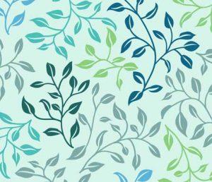 leafy lovliness fabric design