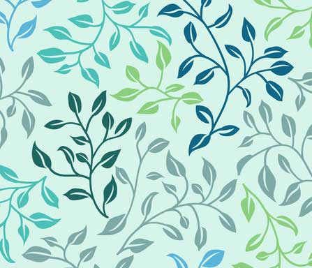 leafy lovliness fabric design