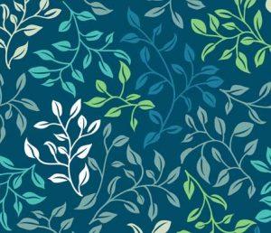leafy tangle fabric design