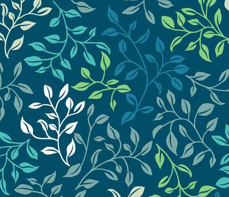leafy tangle fabric design
