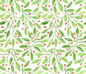 wild meadow berry fabric design