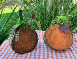 wooden pumpkin project