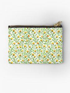 zipper pouch yellow meadow
