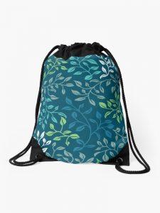 leafy tangle drawstring bag