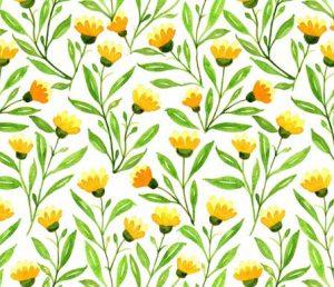 yellow meadow fabric design