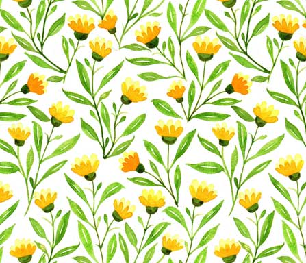 yellow meadow fabric design
