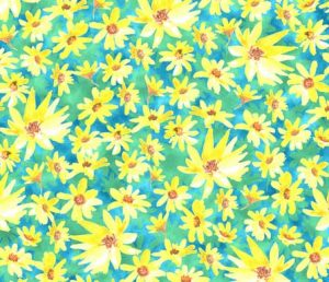 yellow-prairie dock flowersfabric design 2