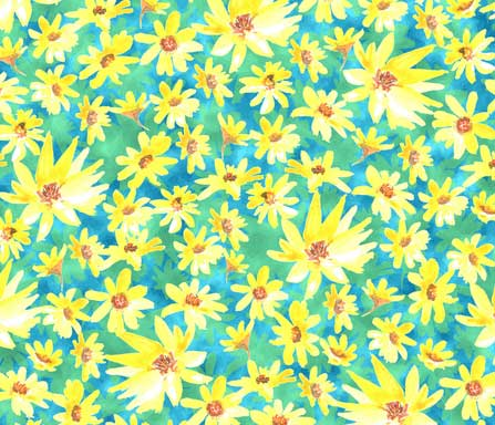yellow-prairie dock flowersfabric design 2