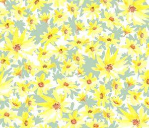 yellow prairie flowers fabric design